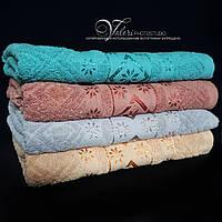 Однотонное банное полотенце 631. Размер 140х70. 100% хлопок, качество отличное