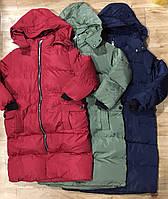 Плотная удлиненная куртка для девочек на меховой  подкладке оптом, Grace, 4-12 лет., арт. G70902