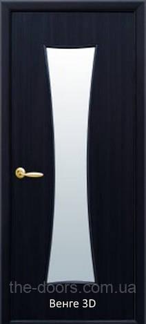 Дверное полотно МДФ Часы стекло сатин экошпон