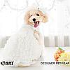 Свадебное платье для собаки с фатой-Белый