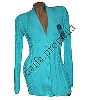 Женская вязаная кофта на пуговицах R758-1 (р-р 46-48) оптом в Одессе. Интернет-магазин Daifa.