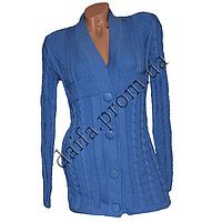 Женская вязаная кофта на пуговицах R758-2 (р-р 46-48) оптом в Одессе. Интернет-магазин Daifa.