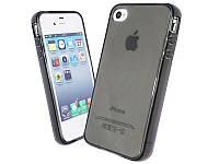 Силикон ультратонкий (0,33мм) iPhone 4S (Grey)