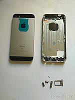 Корпус Back Cover для iPhone 5SE ЧЕРНЫЙ Copy А (Кнопки и держатель сим в компл.)