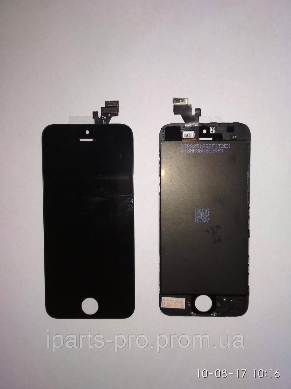 Дисплей Модуль LCD для iPhone5 + Touch Orig ЧЕРНЫЙ