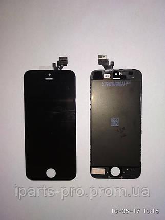 Дисплей Модуль LCD для iPhone5 + Touch Orig ЧЕРНЫЙ, фото 2
