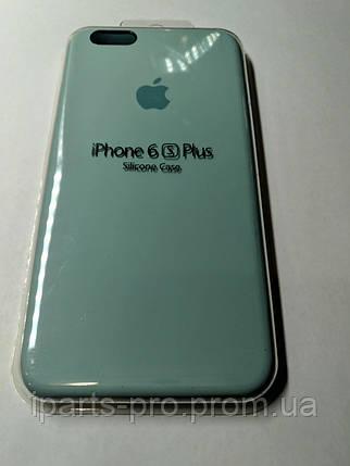 Чехол Silicone Case iPhone 6 плюс /6S плюс Бирюза , фото 2