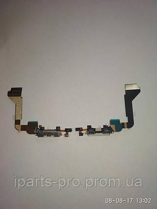 Шлейф для iPhone 4 CHARGE CONN orig БЕЛЫЙ, фото 2