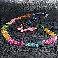 Турмалин разноцветный, бусы, 045ОТ