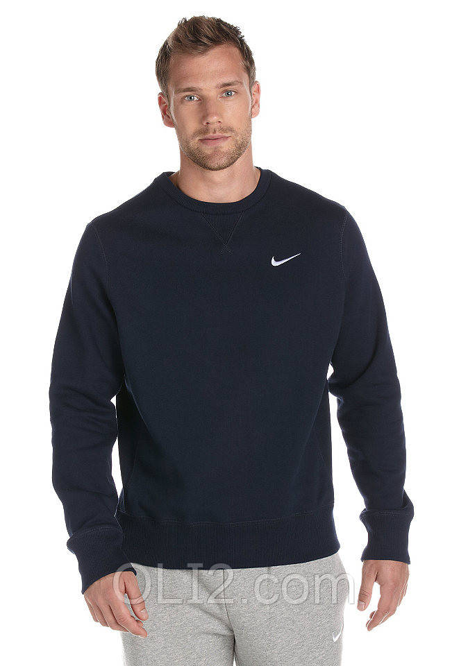 Толстовка синего цвета Nike свитшот