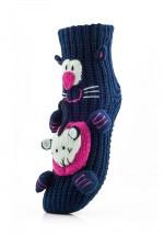 Женские детские носки ATTRACTIVE  3 D игрушка кот 1