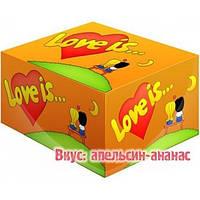 Жвачки Love is  апельсин - ананас жевательная резинка лове ис