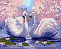 """Картина раскраска по номерам """"Лебединая верность"""" набор для рисования"""