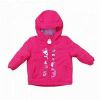 Куртка еврозима для малышек малиновая, PIDILIDI, линейка BUGGA, размер 80