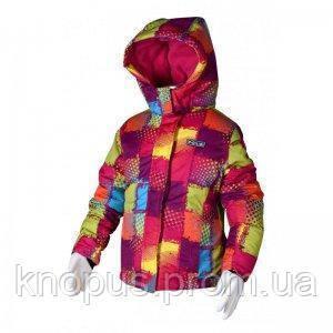 """Зимняя лыжная термокуртка для   девочек """"Разноцвет"""", PIDILIDI BUGGA, размеры 152, 158"""