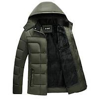 Зимняя мужская куртка зеленая, фото 1