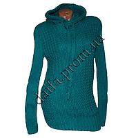 Женский вязаный свитер с капюшоном RV1-2 (р-р 46-48) оптом в Одессе. Интернет-магазин Daifa.