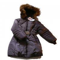 """Пальто для девочки """"Гранит"""", темно-фиолетовое, Garden baby"""