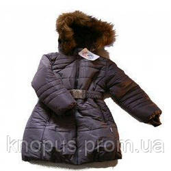 Пальто для девочки, темно-фиолетовое, Garden baby, размер 116, 128