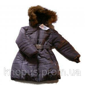 """Пальто для девочки """"Гранит"""", темно-фиолетовое, Garden baby - Интернет-магазин детской одежды Кнопус  в Киеве"""