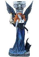Коллекционная статуэтка, подсвечник Veronese Готический ангел WU75016AA