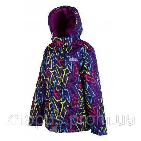 """Зимняя термокуртка для девочки """"Графити"""" Pidilidi,  размер 98-104"""