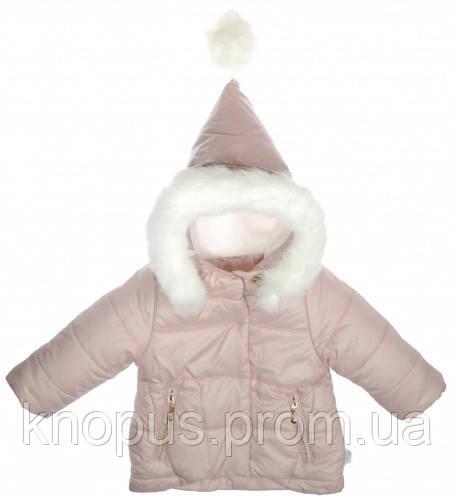 Куртка для девочек,  коллекция Гномик, Пудра, Garden baby, размеры 80-98