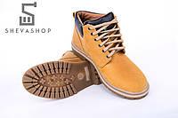 Мужские зимние желтые ботинки Bastion - Overslush, жёлтые, фото 1