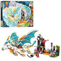 """Конструктор Bela Fairy 10550 аналог Lego Elves 41179 """"Спасение Королевы Драконов"""", 841 детали"""
