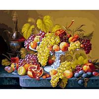 """Картина раскраска по номерам """"Роскошный виноград"""" набор для рисования"""