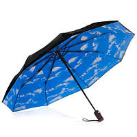 Женский зонт автомат. Зонт голубое небо. Парасоля