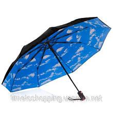 Жіночий парасольку автомат. Зонт блакитне небо. Парасоля