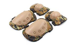 Защита тактическая наколенники, налокотники BC-4039 (р-р XL, ABS, PL-600D, камуфляж Digital Wood)