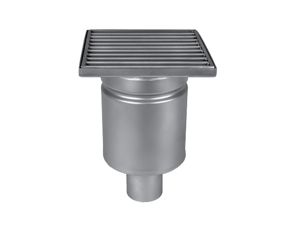 Wm150/50V1 Трап MINI однокорпусный вертикальный трап с квадратной решеткой