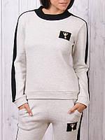 Вязаный гламурный тёплый спортивный костюм Турция S M L XL бежевый, фото 1