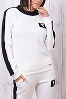 Брендовый гламурный тёплый спортивный костюм Турция S M L XL бежевый