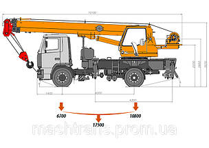 Автокран «Клинцы»  КС-35719-5-02 на шасси МАЗ-5340, фото 3