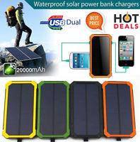 Портативное зарядное устройство Павербанк с солнечной батареей Power bank Solar 40000 LED