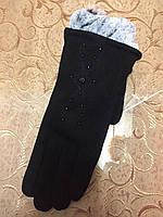 Трикотаж с кролик женские перчатки стильная только оптом