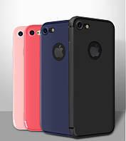 Чехлы для iPhone 7 силиконовые ультратонкие матовые
