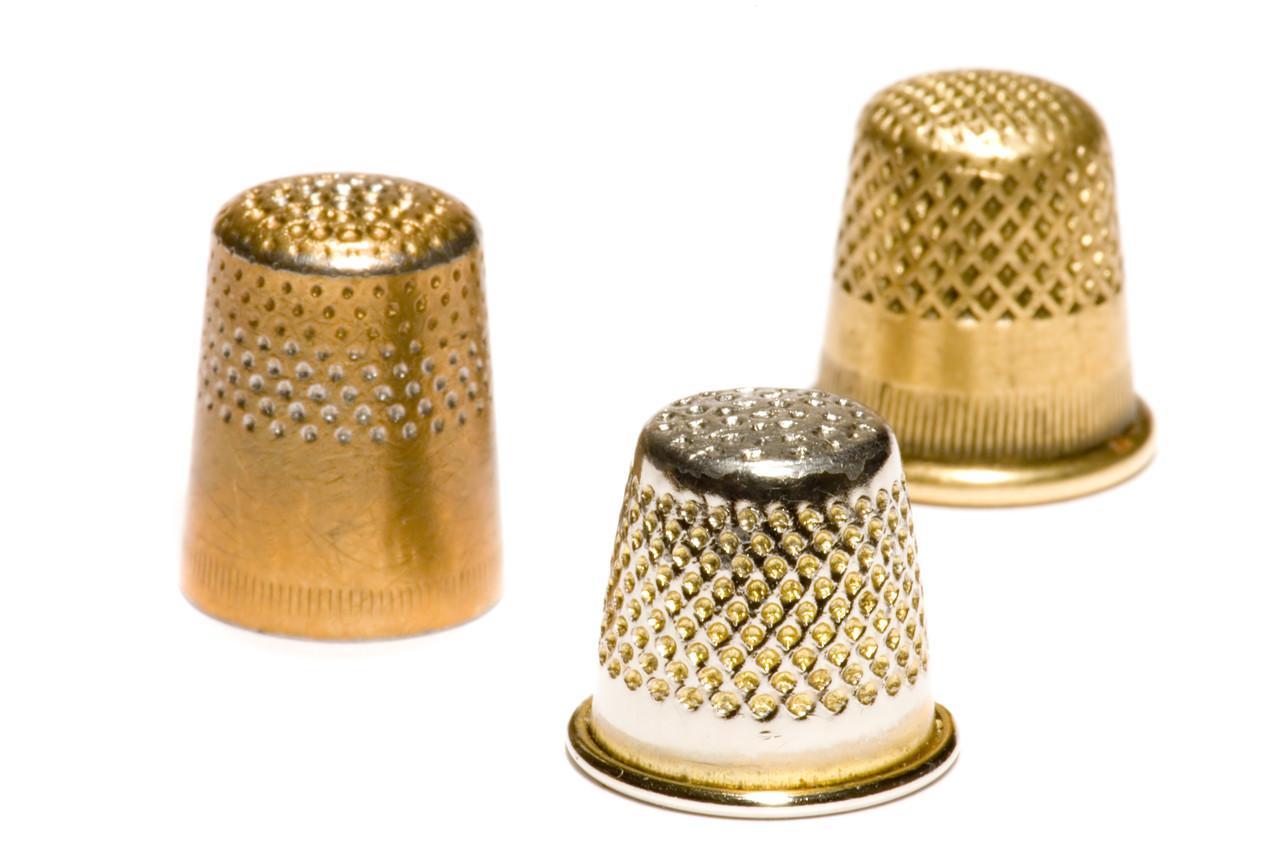 Наперсток металлический №10 (золотистый)