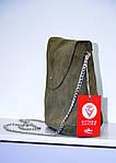 Кожаная сумка VS129  swamp 28х25х9 см, фото 2