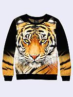 Женский свитшот Морда тигра