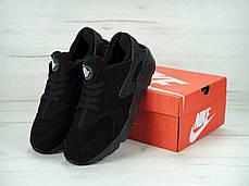 Зимние мужские кроссовки Nike Air Huarache All Black Winter Edition, найк, айр хуараче, фото 3