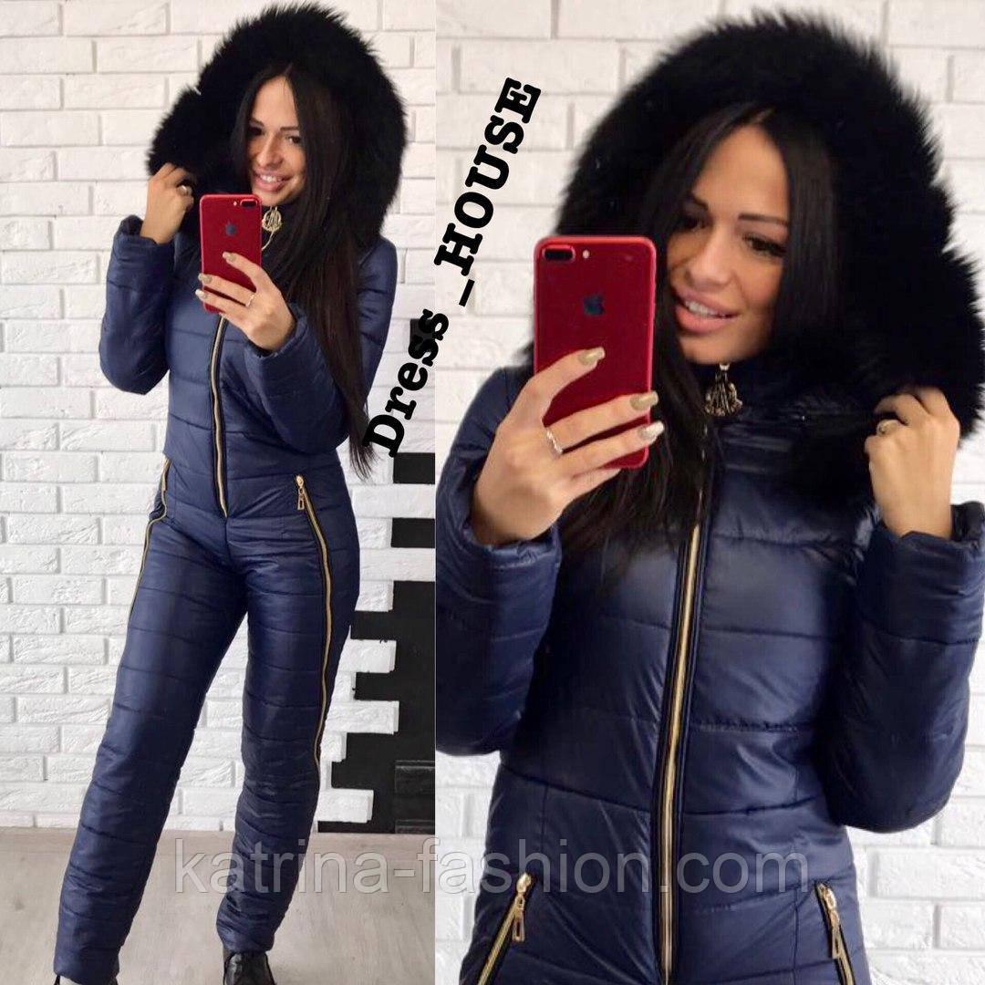 75ee2b0c999a Женский модный теплый зимний комбинезон