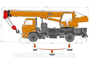 Автокран «Клинцы»  КС-35719-8А на шасси КАМАЗ-53605, фото 2