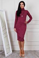 Cтильное женское платье футляр из ангоры