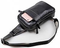 Модный мужской кожаный рюкзак Tiding Bag 23л. 4006A черный