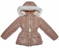 Куртка для девочки зимняя,  светлый шркрлад, Garden baby