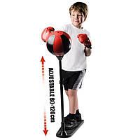 Детская боксерская груша на подставке Punching Ball Set + перчатки для бокса